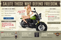 Marisa Miller pozira za Harley Davidsonov Military Appreciation Month - thumbnail