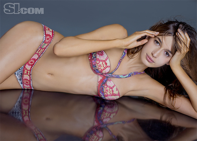 Kenza Fourati body paint - Sports Illustrated Swimsuit 2011